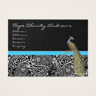 Klippning för Aqua för svart vit för påfågel Visitkort