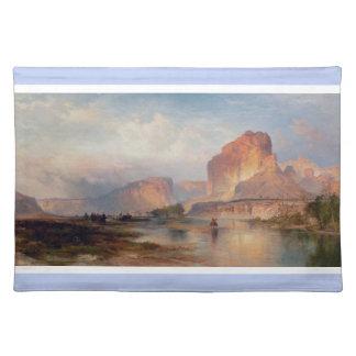Klippor av Green River - Thomas Moran (1874) Bordstablett