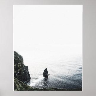Klippor av Moher reser fotoaffischen Poster