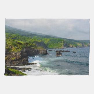 Klippor i Maui Hawaii Handuk