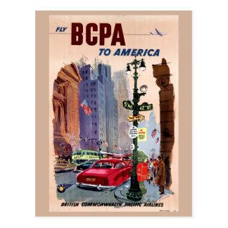 Klipsk BCPA till den återställda Amerika vintage Vykort