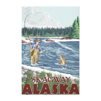 Klipsk fiskare - Skagway, Alaska Canvastryck