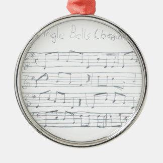 Klirr sätta en klocka på början julgransprydnad metall