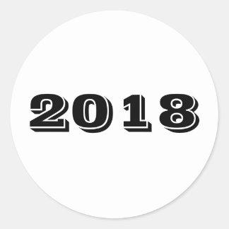 Klistermärke - år 2018