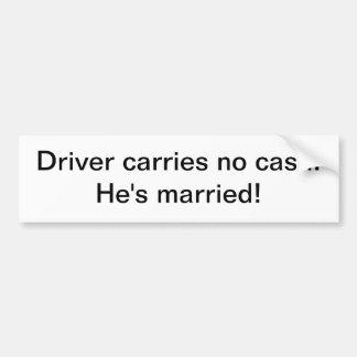 Klistermärke - chauffören bär ingen pengarar