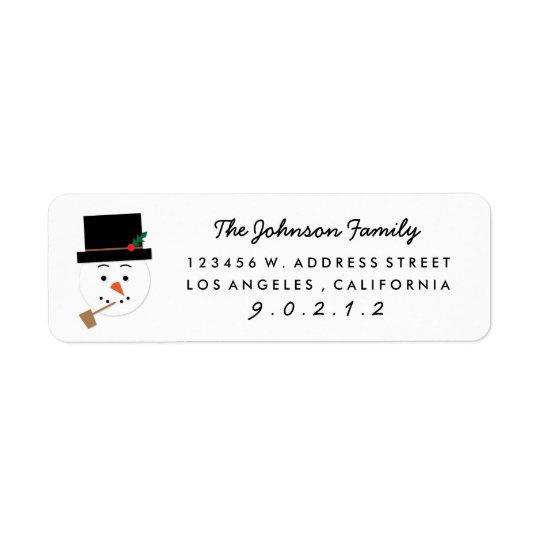 Klistermärke för adress för illustration för returadress etikett