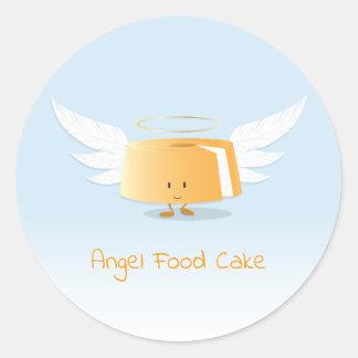 Klistermärke för ängelmattårta |