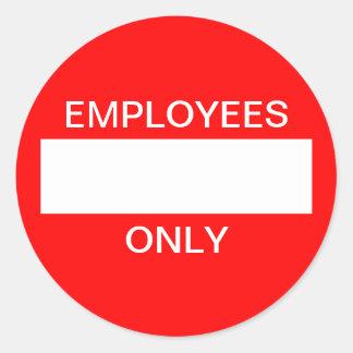 Klistermärke för anställda endast
