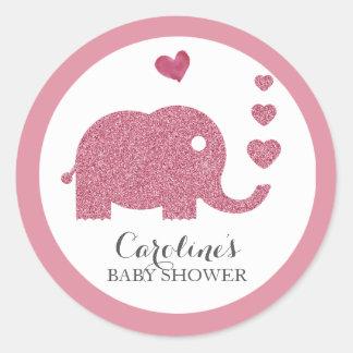Klistermärke för baby shower för glitter för