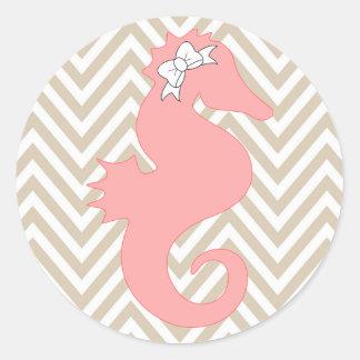 Klistermärke för baby shower för rosa