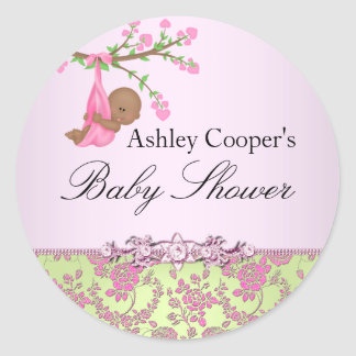 Klistermärke för baby shower för rosa- &