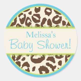 Klistermärke för baby shower för SafariCheetahtryc
