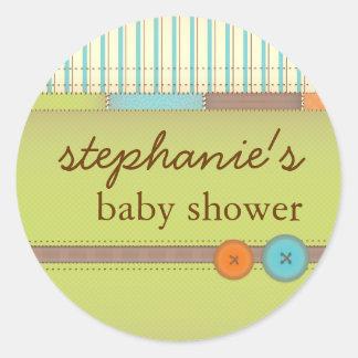 Klistermärke för baby shower för täcke för babyfil