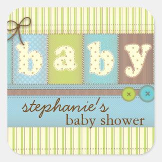 Klistermärke för baby shower för täcke för