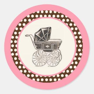 Klistermärke för baby shower för vagnsflicka