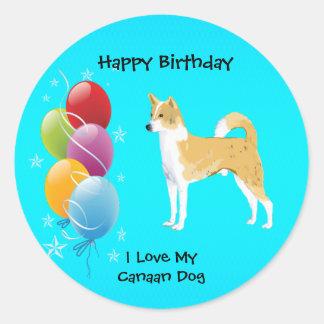 Klistermärke för ballong för födelsedag för Kanaan