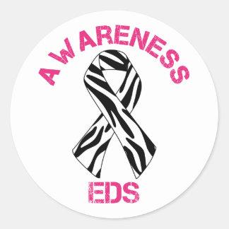 Klistermärke för band för EDS-medvetenhetsebra