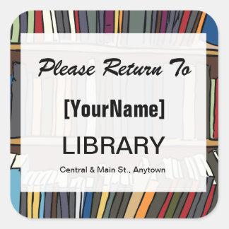 Klistermärke för bibliotekbokretur