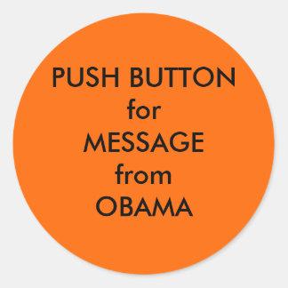 Klistermärke för blåsare för Obama hettluft
