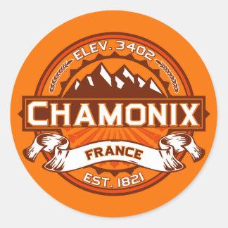 Klistermärke för Chamonix färglogotyp