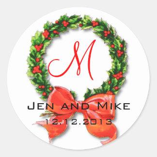Klistermärke för December bröllopMonogram M