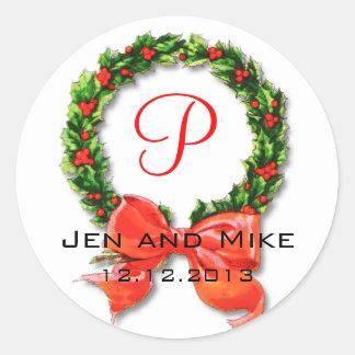 Klistermärke för December bröllopMonogram P
