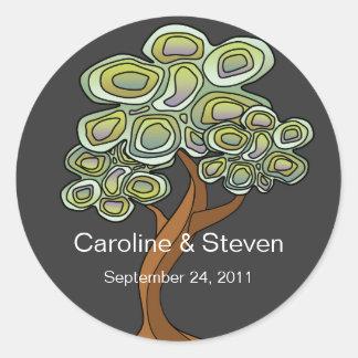 Klistermärke för Eco trädbröllop
