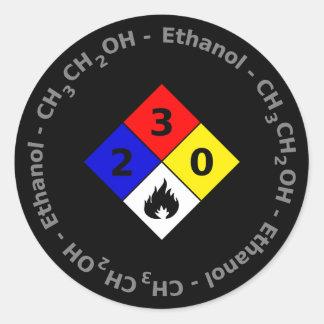 Klistermärke för Ethanol MSDS