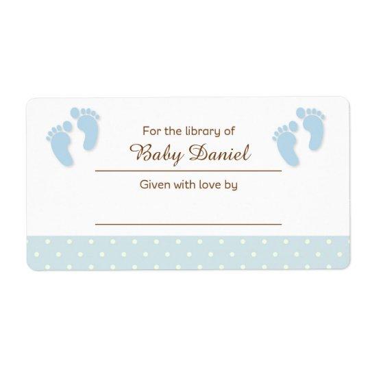 Klistermärke för etikett för baby med fraktsedel