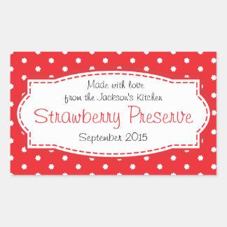 Klistermärke för etikett för jordgubbesylt- eller