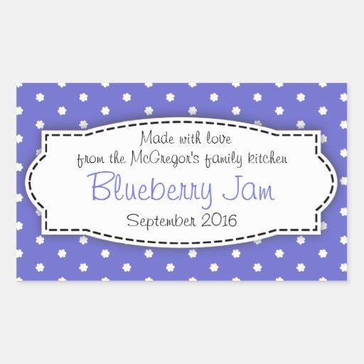 Klistermärke för etikett för mat för blått för blå