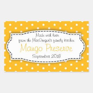 Klistermärke för etikett för mat för mangosyltsylt