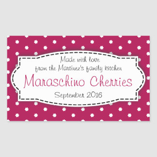 Klistermärke för etikett för mat för Maraschinokör