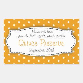 Klistermärke för etikett för mat för Quincesyltsyl