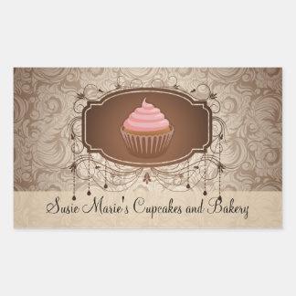 Klistermärke för etikett för muffin för elegant