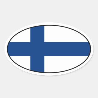 Klistermärke för Finland flaggaOval