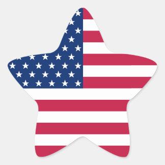 Klistermärke för flagga för randar för stjärnor stjärnformat klistermärke