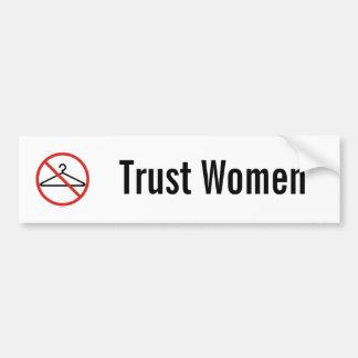 Klistermärke för förtroendekvinnabil