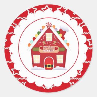 Klistermärke för Fru Claus Bageri juljulfest