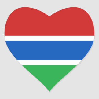 Klistermärke för Gambia flaggahjärta