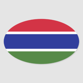 Klistermärke för Gambia flaggaOval