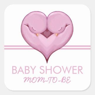Klistermärke för gåva för baby shower för