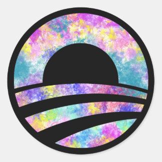Klistermärke för gay pride för regnbåge för Obama