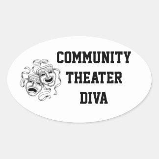 Klistermärke för gemenskapteaterDiva