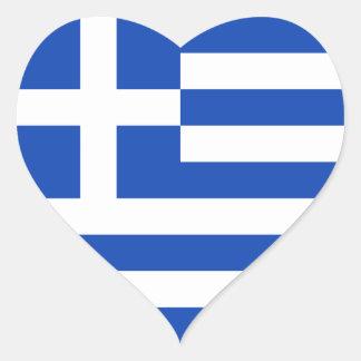 Klistermärke för Grekland flaggahjärta