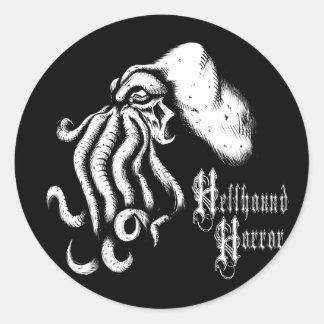 Klistermärke för HellhoundfasaCthuhlu logotyp