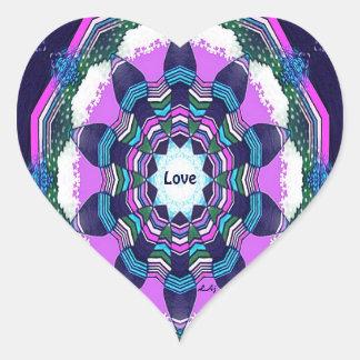 Klistermärke för hjärta för Mandala för