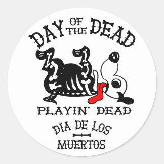 klistermärke för hund för diameter de los muertos