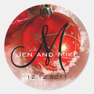 Klistermärke för inbjudan för December