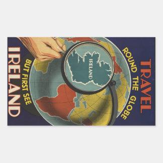 Klistermärke för Irland vintage resoraffisch